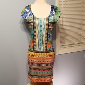 Vibrant Print Bodycon Dress